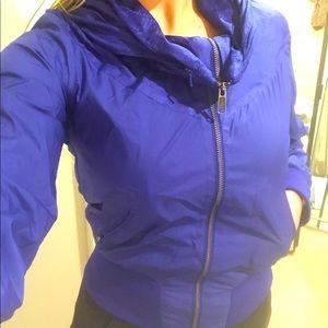 Nike Royal Blue Bomber Jacket w/ Retractable Hood